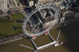 Helicopter Tour over Millenium Wheel